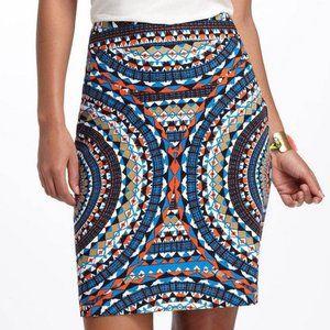 Anthropologie   Tabitha Olmeda Tribal Pencil Skirt